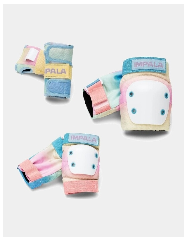 Impala Rollerskates Kids Protective Pack - Pastel Fade - 3 Pack  - Cover Photo 2