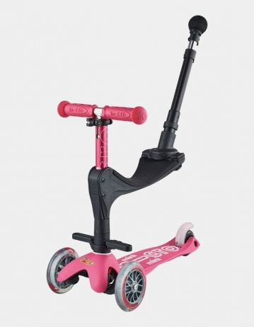 Mini Micro Deluxe 3In1 Pink Push Bar. - Product Photo 1