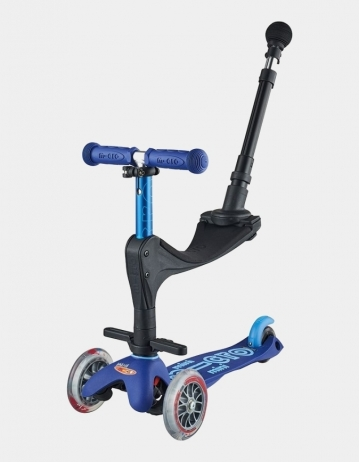 Mini Micro Deluxe 3In1 Blue Push Bar. - Product Photo 1