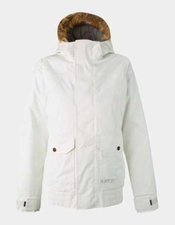 Burton Cassidy Jacket - White - Product Photo 1