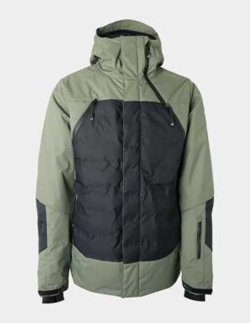 Brunotti Spark Mens Snowjacket - Beetle Green - Product Photo 1