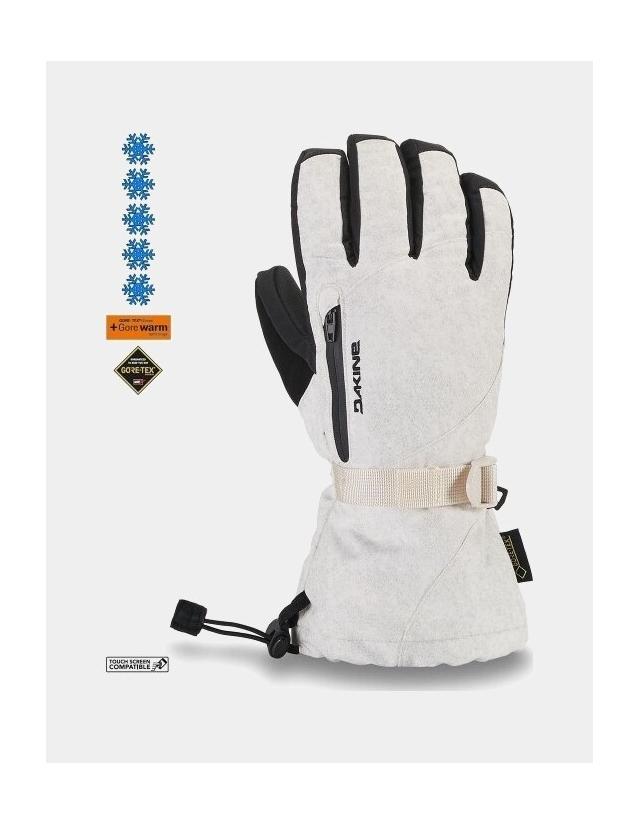 Dakine Leather Sequoia Glove - White - Gants Ski & Snowboard  - Cover Photo 1