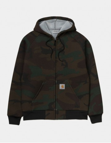 Carhartt Wip Car-Lux Hooded Jacket Camo Evergreen / Grey. - Product Photo 1