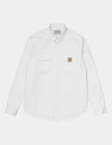 Carhartt Wip Salinac Shirt Jac White Worn Washed. - Product Photo 1