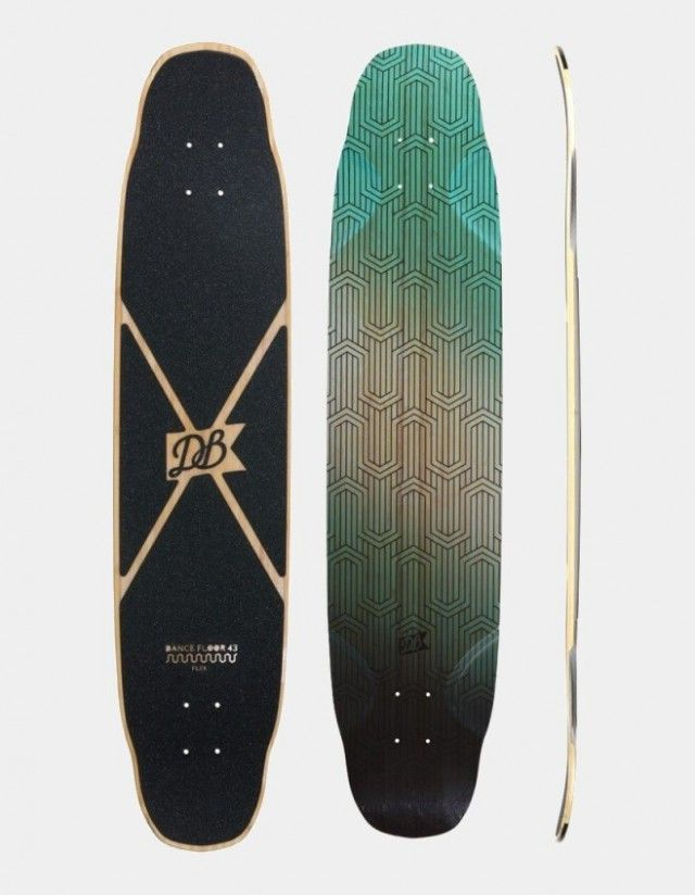 Db Longboards Dance Floor 43 Flex 1 Green. - Deck Longboard  - Cover Photo 1