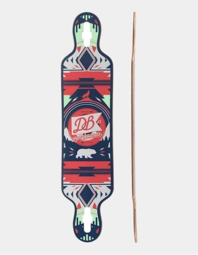 Db Longboards Urban Native 40 Red And Seafoam. - Deck Longboard  - Cover Photo 1