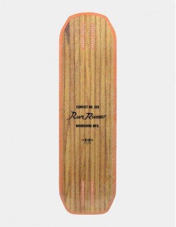 Moonshine Rum Runner White/Orange Longboard Deck. - Product Photo 2