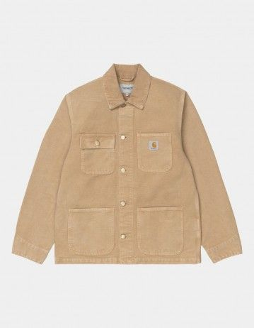 Carhartt Wip Michigan Coat Dusty H Brown / Dusty H Brown Worn Canvas. - Product Photo 1