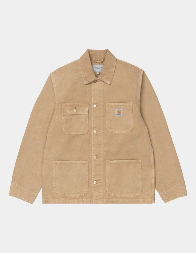 Carhartt Wip Michigan Coat Dusty H Brown / Dusty H Brown Worn Canvas. - Man Jacket  - Cover Photo 1
