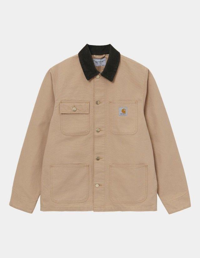 Carhartt Wip Michigan Coat Dusty H Brown / Tobacco Rinsed. - Man Jacket  - Cover Photo 1