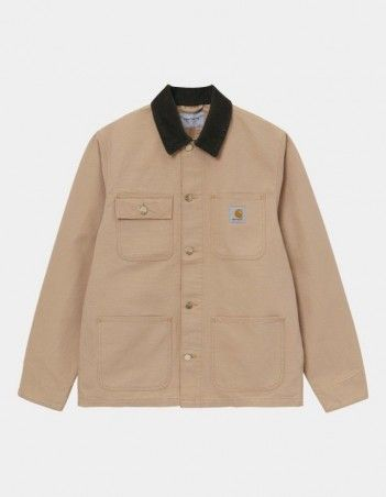 Carhartt WIP Michigan Coat Dusty H Brown / Tobacco rinsed. - Man Jacket - Miniature Photo 1