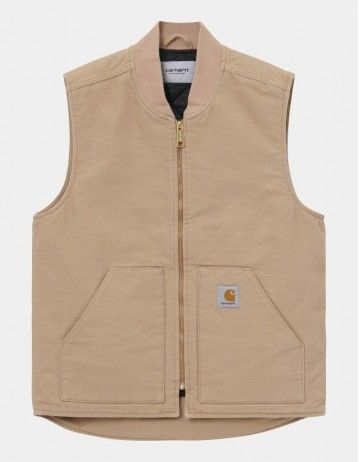 Carhartt Wip Classic Vest Dusty H Brown Rinsed. - Product Photo 1