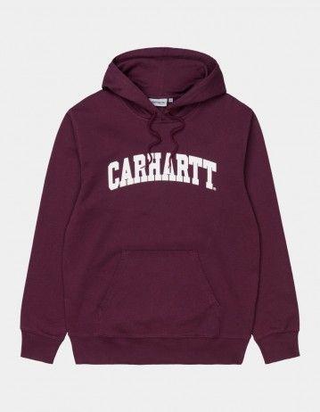 Carhartt Wip Hooded University Sweatshirt Shiraz / White. - Product Photo 1