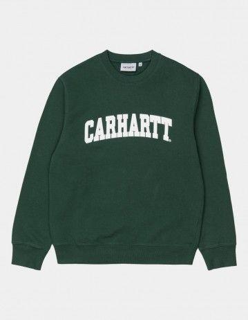 Carhartt Wip University Sweatshirt Treehouse / White. - Product Photo 1