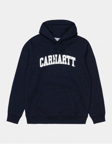 Carhartt Wip Hooded University Sweatshirt Dark Navy / White. - Product Photo 1
