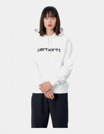 Carhartt Wip W Hooded Carhartt Sweatshirt White / Black. - Product Photo 1