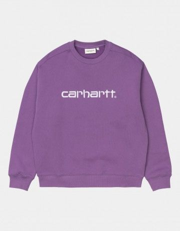 Carhartt Wip W Carhartt Sweatshirt Aster / White. - Product Photo 1