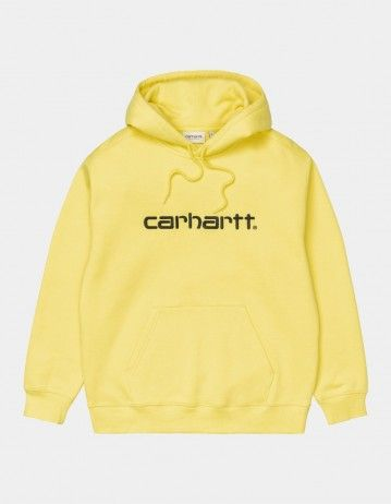 Carhartt Wip W Hooded Carhartt Sweatshirt Limoncello / Black. - Product Photo 1