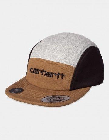 Carhartt Wip Carhartt Tricol Cap Hamilton Brown / Grey Heather / Black. - Product Photo 1