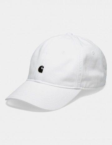 Carhartt Wip Madison Logo Cap White / Black. - Product Photo 1