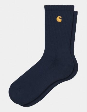 Carhartt Chase Socks Dark Navy/Gold - Product Photo 1