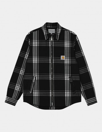 Carhartt Wip Cahill Shirt Jac Cahill Check, Black. - Product Photo 1