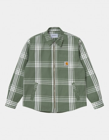 Carhartt Wip Cahill Shirt Jac Cahill Check, Dollar Green. - Product Photo 1