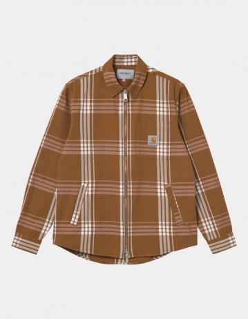 Carhartt Wip Cahill Shirt Jac Cahill Check, Hamilton Brown. - Product Photo 1