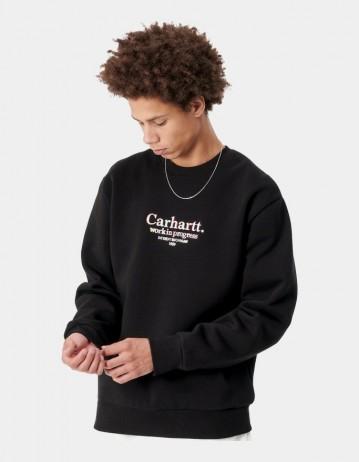 Carhartt Wip Commission Sweatshirt Black. - Product Photo 1
