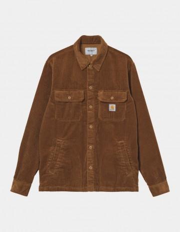 Carhartt Wip Dixon Shirt Jac Hamilton Brown Rinsed. - Product Photo 1