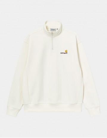 Carhartt Wip Half Zip American Script Sweatshirt Wax. - Product Photo 1