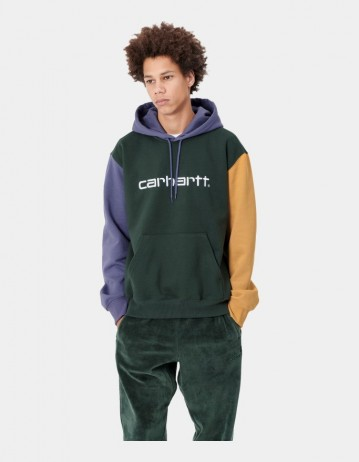 Carhartt Wip Hooded Carhartt Tricol Sweatshirt Dark Teal. - Product Photo 1