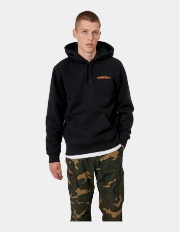 Carhartt Wip Hooded International Operations Sweatshirt Black / Orange. - Product Photo 1