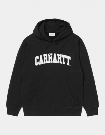 Carhartt Wip Hooded University Sweatshirt Black / White. - Product Photo 1