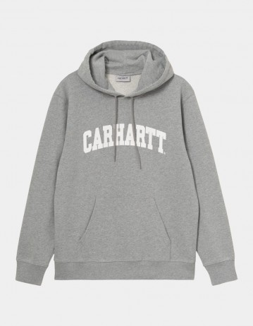 Carhartt Wip Hooded University Sweatshirt Grey Heather / White. - Product Photo 1