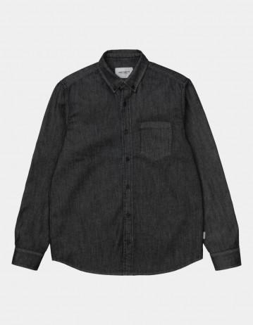 Carhartt Wip L/S Civil Shirt Black Rinsed. - Product Photo 1
