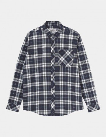 Carhartt Wip L/S Irvin Shirt Irvin Check, Blue. - Product Photo 1