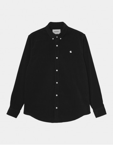 Carhartt Wip L/S Madison Cord Shirt Black / Wax. - Product Photo 1