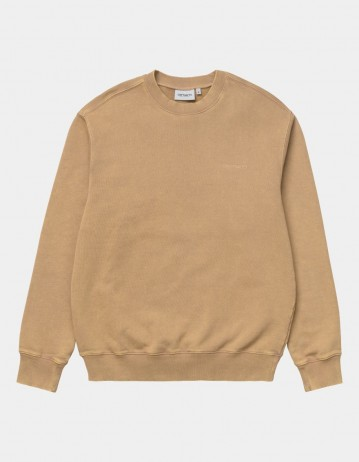 Carhartt Wip Mosby Script Sweatshirt Dusty H Brown. - Product Photo 1