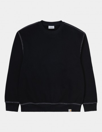 Carhartt Wip Nebraska Sweatshirt Black / White. - Product Photo 1