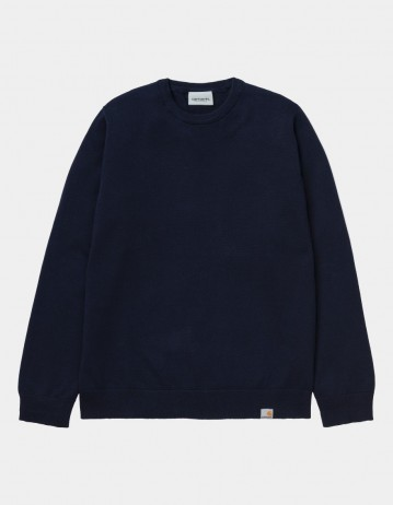 Carhartt Wip Playoff Sweater Dark Navy. - Product Photo 1