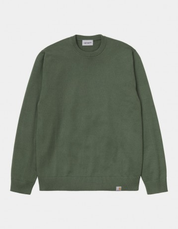 Carhartt Wip Playoff Sweater Dollar Green. - Product Photo 1