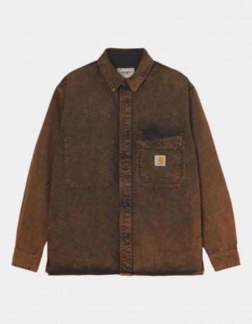 Carhartt Wip Reno Shirt Jac Rum Crater Wash. - Product Photo 1