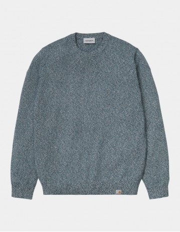 Carhartt Wip Toss Sweater Space - Hydro - Wax. - Product Photo 1