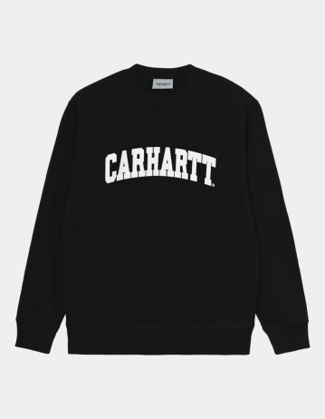 Carhartt Wip University Sweatshirt Black / White. - Product Photo 1