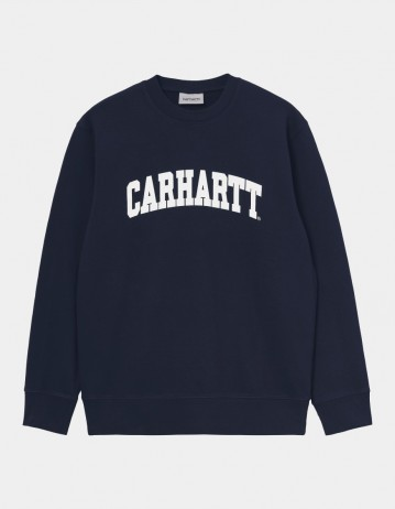 Carhartt Wip University Sweatshirt Dark Navy / White. - Product Photo 1