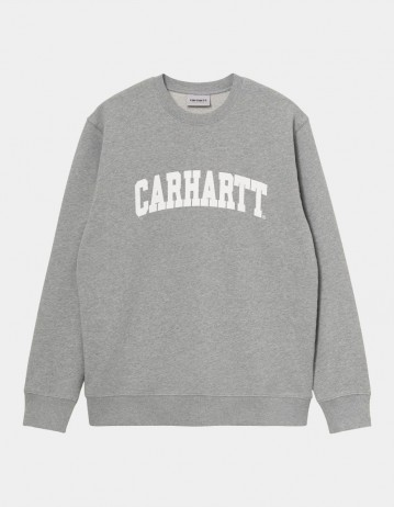 Carhartt Wip University Sweatshirt Grey Heather / White. - Product Photo 1