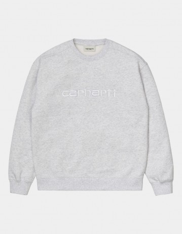 Carhartt Wip W Carhartt Sweatshirt Ash Heather / White. - Product Photo 1
