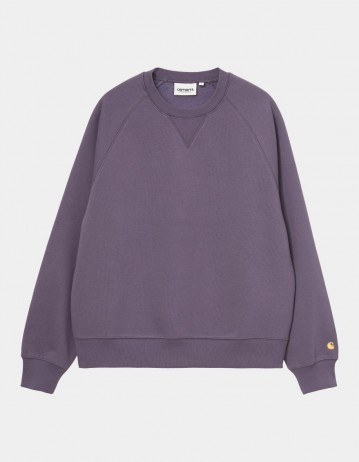 Carhartt Wip W Chase Sweatshirt Provence / Gold. - Product Photo 1