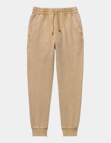 Carhartt Wip W Mosby Script Sweat Pant Dusty H Brown. - Product Photo 1